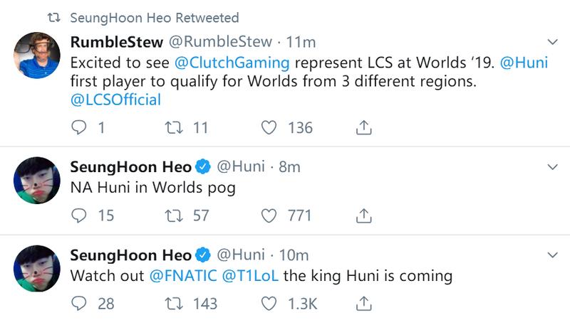 CG让二追三TSM Huni回归 孙哥连续三年挺进世界赛
